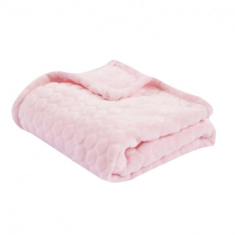 Couverture Bubulle 75x100 - Rose